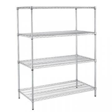 Industrial NSF 4 Tiers 800lbs Shelf Rack Stainless Steel Wire Mesh Shelving