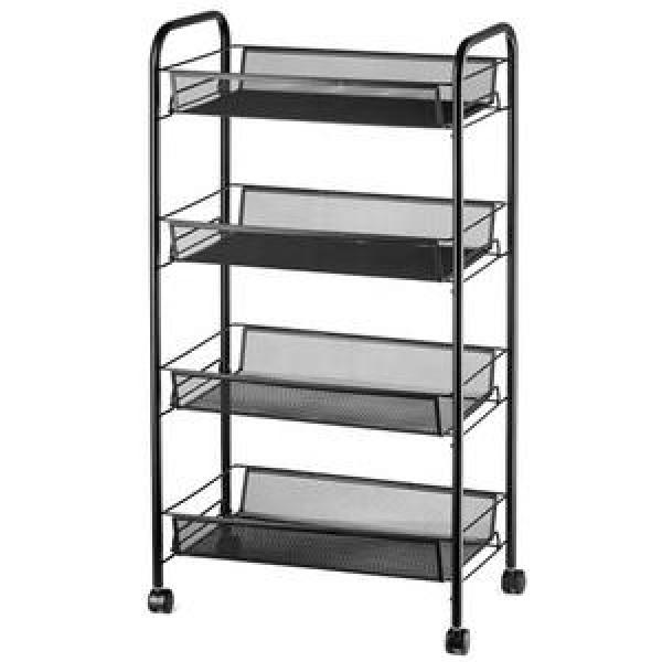 Mobile Chrome-Plated Hygienic Rack 5 Layers Restaurant Wire Shelving #2 image