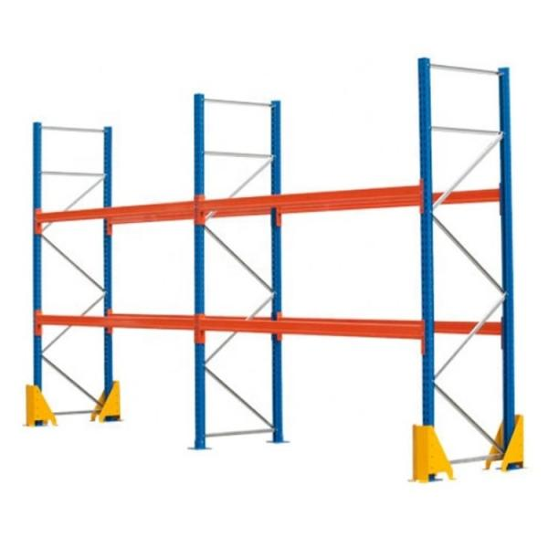Adjustable Easy Install Industrial 4 Layers Warehouse Commercial Shelving Metal Rack Shelves #1 image