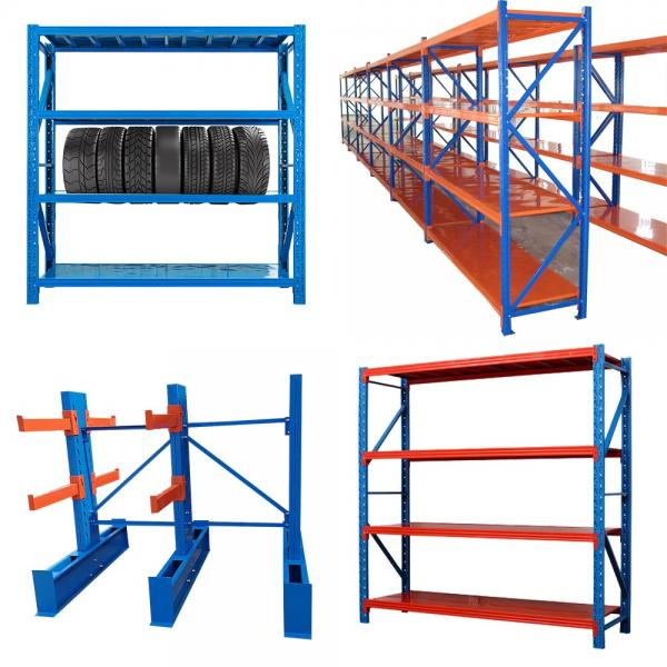 Multi-Purpose 4-Tier Large Capacity Industrial Warehouse Steel Storage Rack Wire Shelving Shelf #2 image