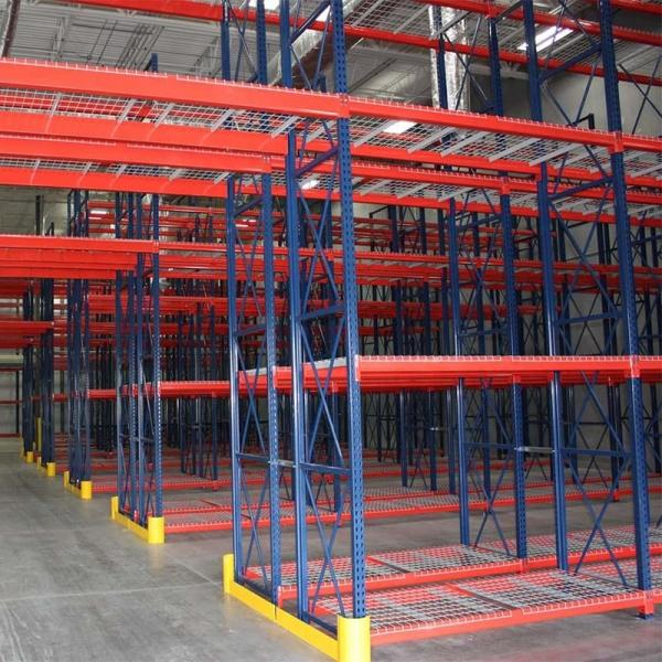 Multi-Purpose 4-Tier Large Capacity Industrial Warehouse Steel Storage Rack Wire Shelving Shelf #1 image